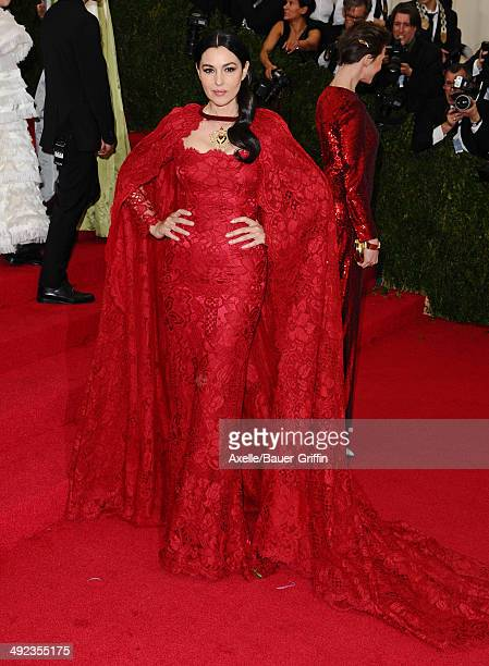 Monica Bellucci attends the 'Charles James Beyond Fashion' Costume Institute Gala at the Metropolitan Museum of Art on May 5 2014 in New York City