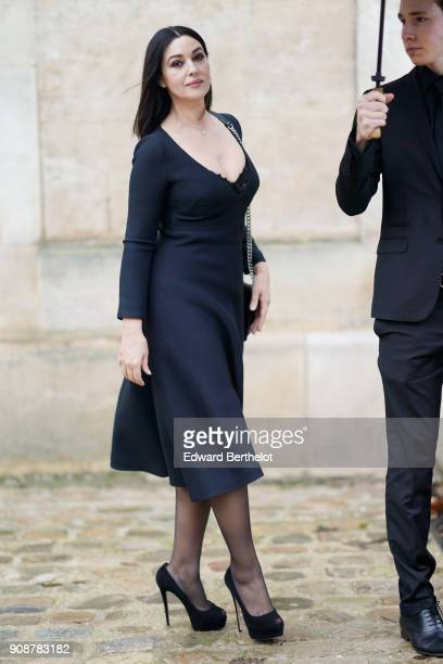 Monica Bellucci attends the Christian Dior Haute Couture Spring Summer 2018 show as part of Paris Fashion Week on January 22, 2018 in Paris, France.