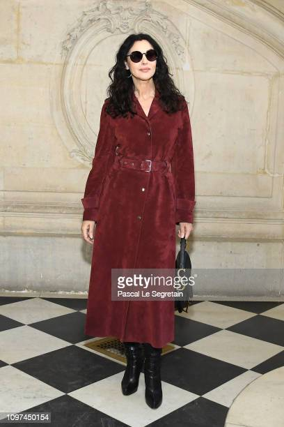 Monica Bellucci attends the Christian Dior Haute Couture Spring Summer 2019 show as part of Paris Fashion Week on January 21, 2019 in Paris, France.