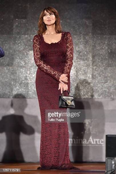 Monica Bellucci attends the closing night of the Taormina Film Festival on July 18 2020 in Taormina Italy