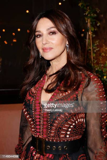 Monica Bellucci attends the Dior And Vogue Paris dinner at Fred L'Ecailler during the 72nd annual Cannes Film Festival on May 15 2019 in Cannes France