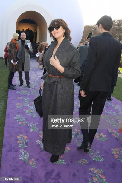 Monica Bellucci attends the Dior Haute Couture Spring/Summer 2020 show as part of Paris Fashion Week at Musee Rodin on January 20 2020 in Paris France