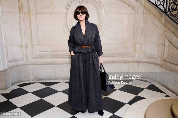 Monica Bellucci attends the Dior Haute Couture Spring/Summer 2020 show as part of Paris Fashion Week on January 20 2020 in Paris France