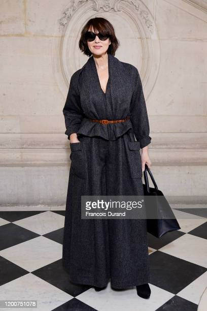 Monica Bellucci attends the Dior Haute Couture Spring/Summer 2020 show as part of Paris Fashion Week on January 20, 2020 in Paris, France.