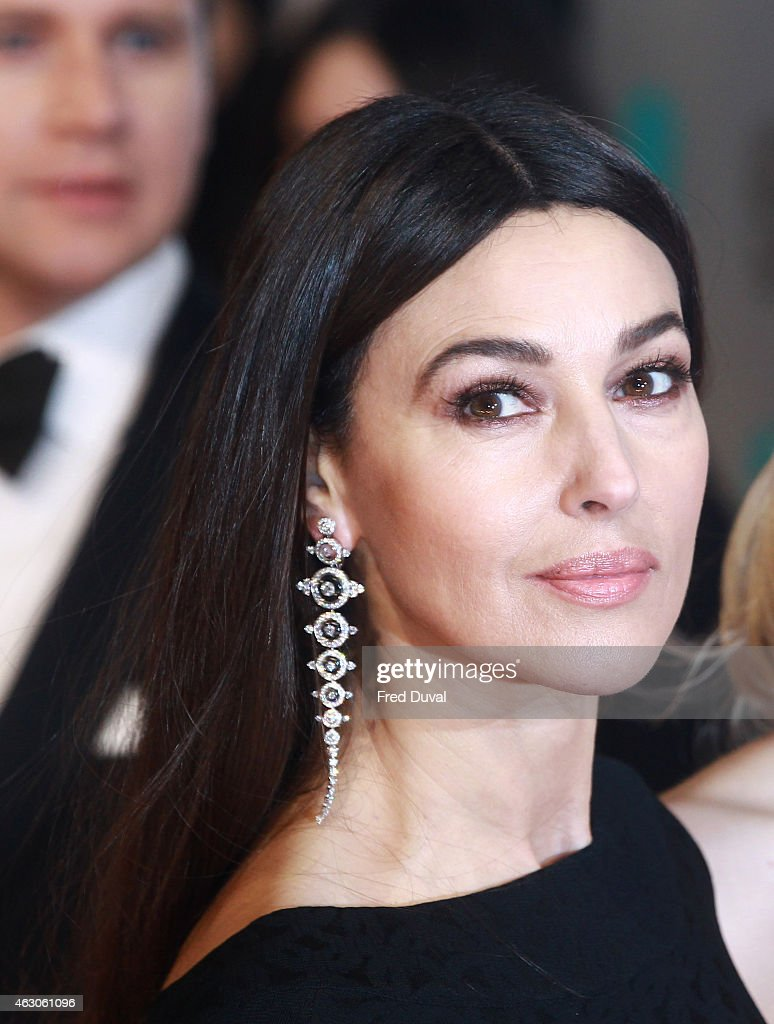 Monica Bellucci attends the EE British Academy Film Awards at The Royal Opera House on February 8, 2015 in London, England.