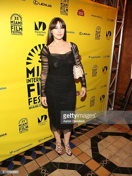 Monica Bellucci attends the MIFF 2016 VilleMarie screening at Olympia Theater At Gusman Hall on March 8 2016 in Miami Florida