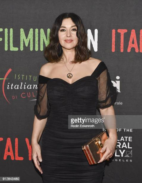 Monica Bellucci attends the On The Milky Road Los Angeles Premiere at Harmony Gold Theatre on January 31 2018 in Los Angeles California
