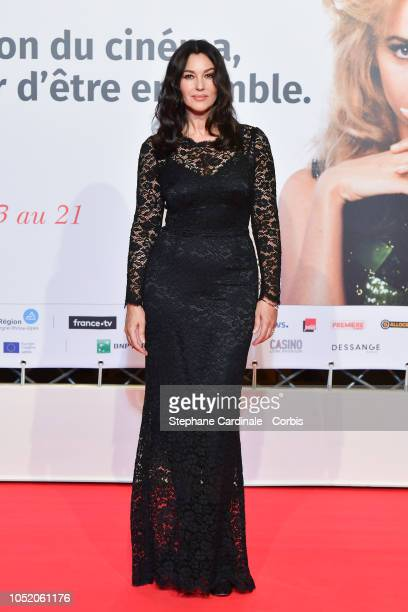 Monica Bellucci attends the opening ceremony during the 10th Film Festival Lumiere on October 13 2018 in Lyon France