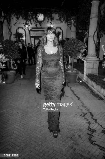 Monica Bellucci attends the red carpet of the closing night of the Taormina Film Festival on July 18 2020 in Taormina Italy