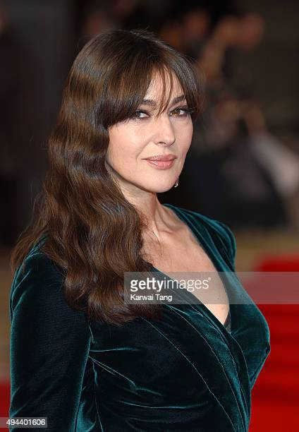 Monica Bellucci attends the Royal Film Performance of 'Spectre' at the Royal Albert Hall on October 26 2015 in London England