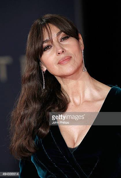 "Monica Bellucci attends the Royal Film Performance of ""Spectre""at Royal Albert Hall on October 26, 2015 in London, England."