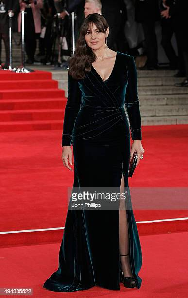 Monica Bellucci attends the Royal Film Performance of Spectreat Royal Albert Hall on October 26 2015 in London England