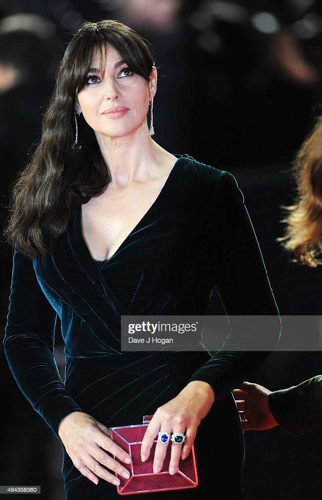 Monica Bellucci attends the Royal World Premiere of 'Spectre' at Royal Albert Hall on October 26, 2015 in London, England.