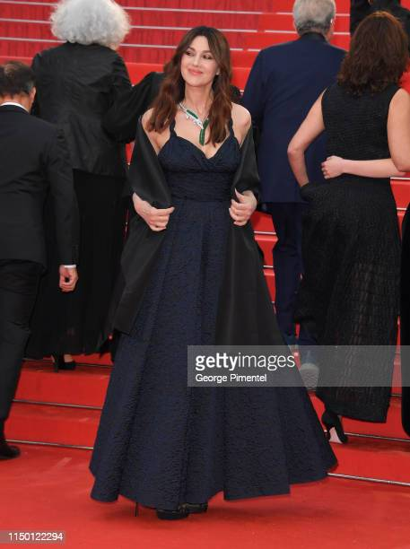"""Monica Bellucci attends the screening of """"Les Plus Belles Annees D'Une Vie"""" during the 72nd annual Cannes Film Festival on May 18, 2019 in Cannes,..."""