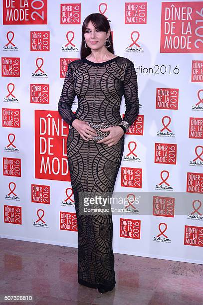 Monica Bellucci attends the Sidaction Gala Dinner 2016 as part of Paris Fashion Week on January 28 2016 in Paris France