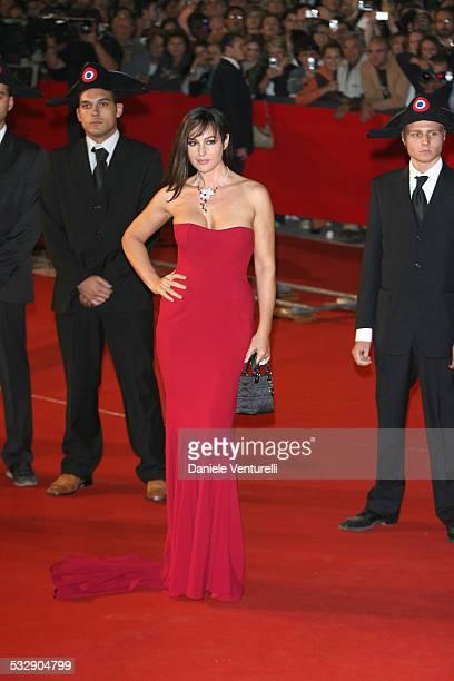 """Monica Bellucci during 1st Annual Rome Film Festival - """"Napoleon and Me"""" Premiere - Arrivals at Auditorium Parco della Musica in Rome, Italy."""
