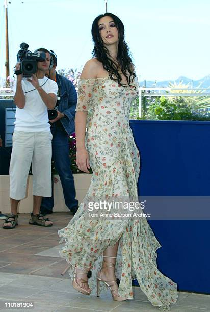 Monica Bellucci during 2003 Cannes Film Festival Matrix Reloaded Photo Call at Palais des Festivals in Cannes France