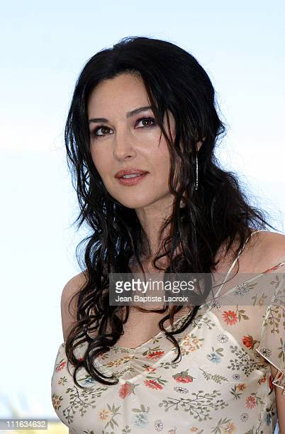Monica Bellucci during 2003 Cannes Film Festival 'Matrix Reloaded' Photo Call at Palais des Festivals in Cannes France