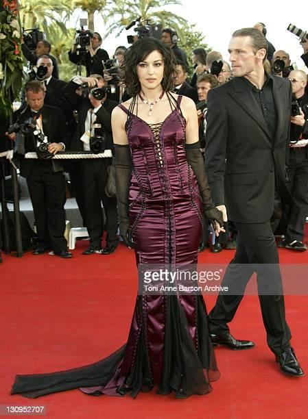 Monica Bellucci during 2003 Cannes Film Festival - The Matrix Reloaded Premiere at Palais des Festivals in Cannes, France.