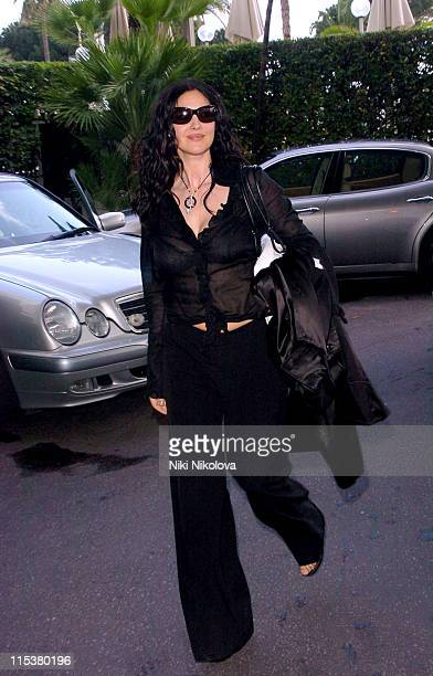 Monica Bellucci during 2005 Cannes Film Festival Sightings Day 4 in Cannes France