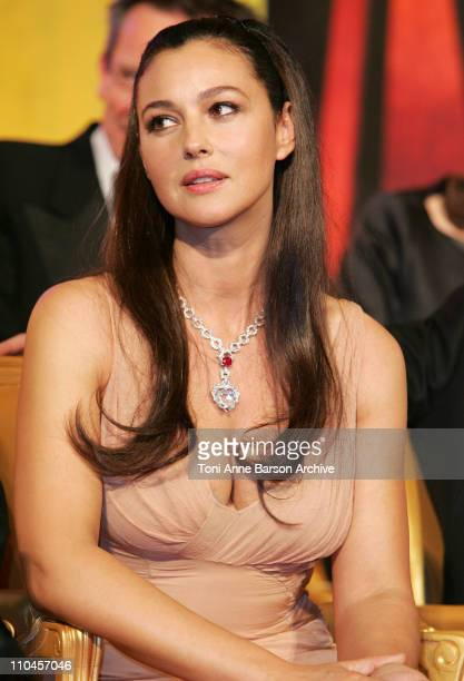 Monica Bellucci during 2006 Cannes Film Festival Palme D'Or Ceremony at Palais des Festivals in Cannes Cannes France