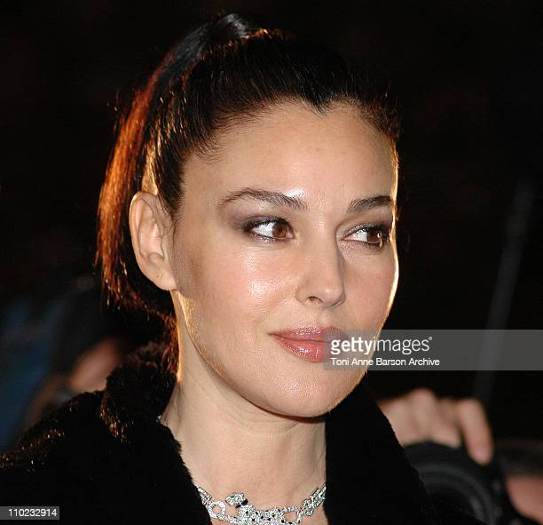 Monica Bellucci during Monica Bellucci Turns on the Champs Elysees Christmas Lights at Les Champs Elysees in Paris France