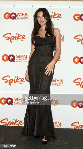 Monica Bellucci during Spike TV Presents the 2003 GQ Men of the Year Awards Press Room at The Regent Wall Street in New York City New York United...