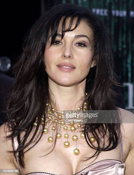 Monica Bellucci during 'The Matrix Reloaded' Premiere at Mann Village Theater in Westwood California United States