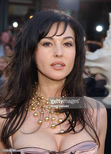 Monica Bellucci during 'The Matrix Reloaded' Premiere at Mann Village Theatre in Westwood California United States