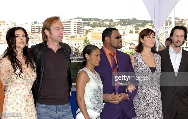 Monica Bellucci Hugo Weaving Jada Pinkett Smith Laurence Fishburne CarrieAnne Moss and Keanu Reeves
