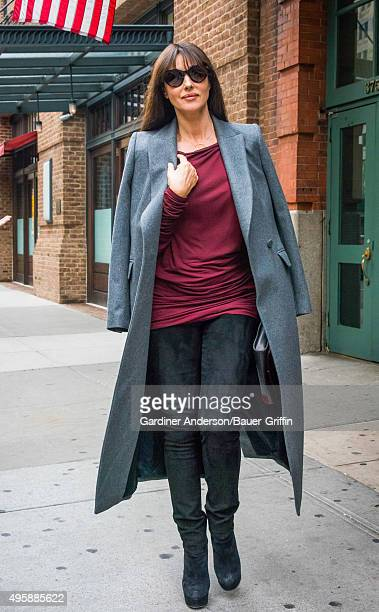 Monica Bellucci is seen on November 05 2015 in New York City