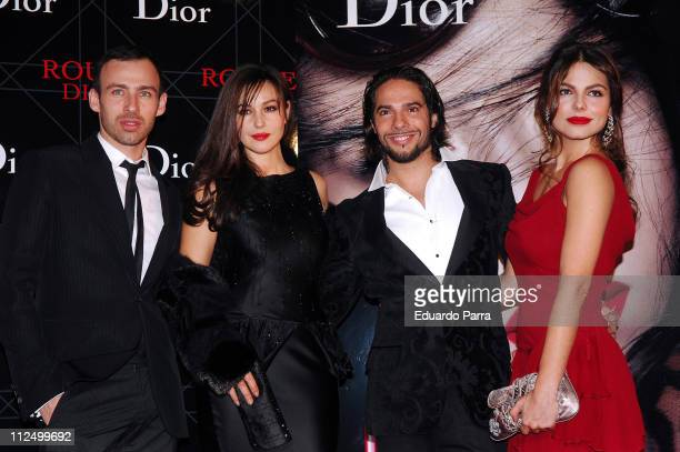 Monica Bellucci Joaquin Cortes and his girlfriend Marisa Jara