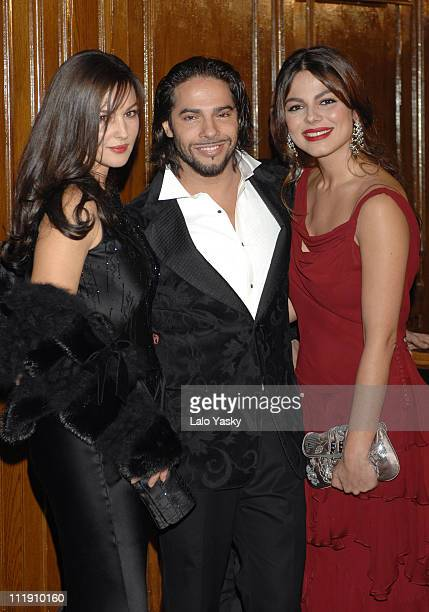Monica Bellucci Joaquin Cortes and Marisa Jara during Dior Gala Dinner in Madrid November 15 2006 at Stock Exchange Building in Madrid Spain