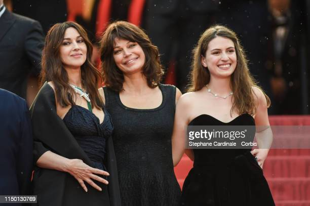 Monica Bellucci Marianne Denicourt and Tess Lauvergne attend the screening of Les Plus Belles Annees D'Une Vie during the 72nd annual Cannes Film...