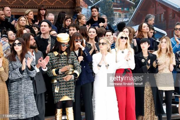 Monica Bellucci Nicolas Lefebvre Naomi Campbell Caroline de Maigret Laura Bailey Claudia Schiffer Gwei LunMei Joana Preiss attend the Chanel show as...