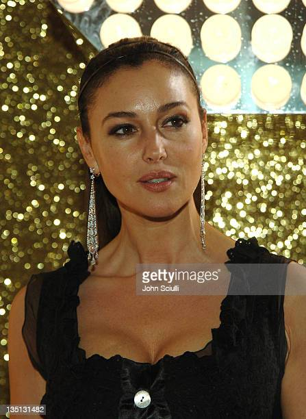 Monica Bellucci wearing Dolce Gabbana during 2006 Cannes Film Festival Dolce Gabbana Party at Hotel Martinez in Cannes France