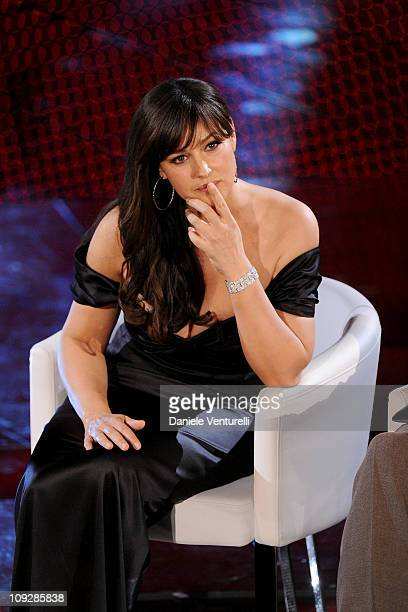 Monica Belluci attends the 61th Sanremo Song Festival at the Ariston Theatre on February 18 2011 in San Remo Italy