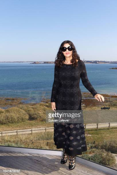 Monica Belluci attends the jury photocall of 29th Dinard Film festival on September 27, 2018 in Dinard, France.