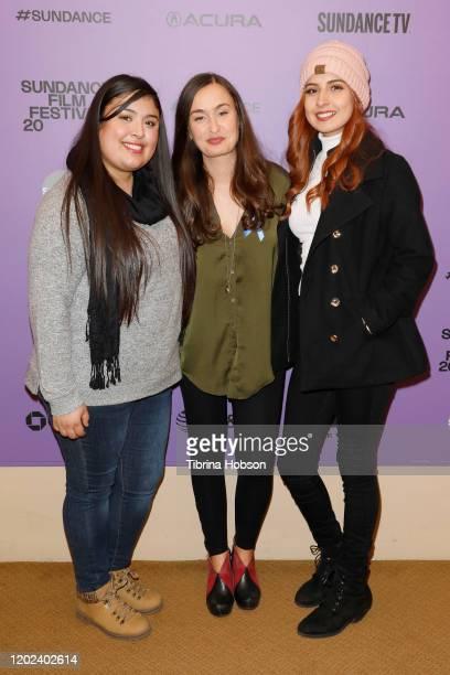 Monica Betancourt Patricia Vidal Delgado and Kailei Lopez attend the 2020 Sundance Film Festival La Leyenda Negra Premiere at Egyptian Theatre on...