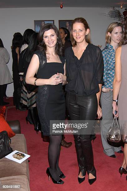 Monica Botkier and Jacqueline Sackler attend Monica Botkier and Olivia Chantecaille Host A Dinner to Celebrate Spring at Gramercy Park Hotel on...