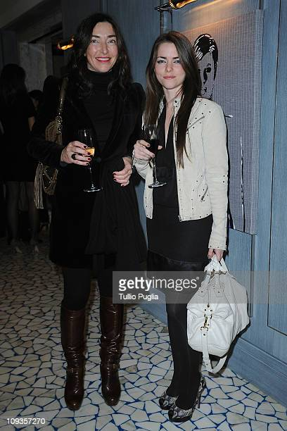 Monica Bottigelli and Alice Etro attend the Larusmiani Soteby's charity auctions on February 22 2011 in Milan Italy
