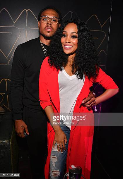 Monica Brown and Shannon Brown attend XS Lounge on May 1 2016 in Atlanta Georgia