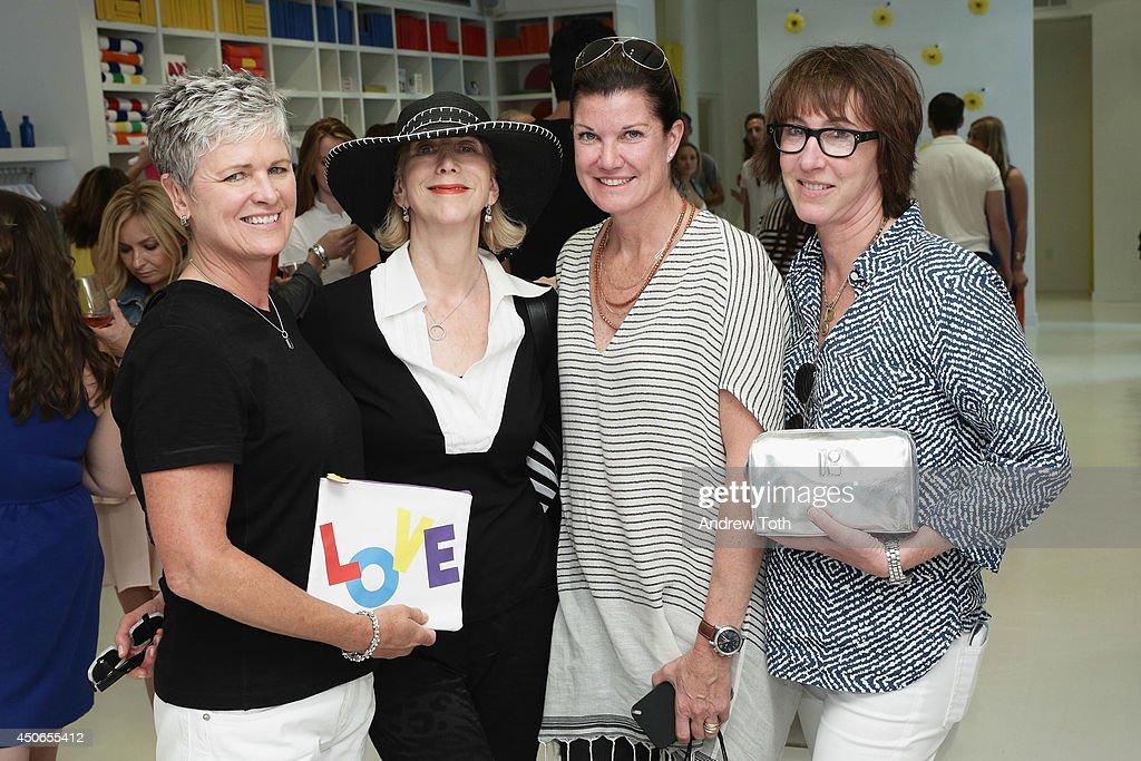 Monica Bury, Gwen Angster, Treva Walden and Jane Beriliner attend Hamptons Magazine celebrates The New Lisa Perry store on June 14, 2014 in East Hampton, New York.