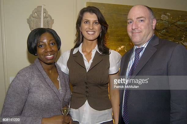 Monica C Diana Bianchini and James D'Adamo attend MICHAEL S SMITH AGRARIA COLLECTION LAUNCH at Lowell Hotel on April 18 2007