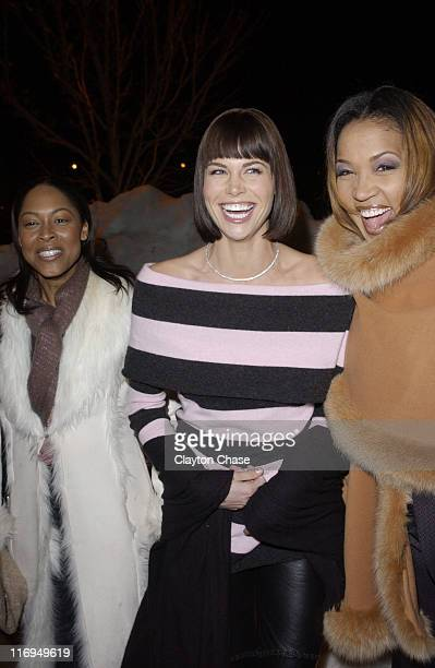 Monica Calhoun Brooke Burns and Kym Whitley during 2005 Sundance Film Festival 'The Salon' Premiere at Library Theatre in Park City Utah United States
