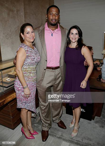 Monica Clausell Randy Starks and Miriam Behar are seen at David Yurman InStore Shopping Event Hosted by Randy Starks To Benefit The Florida Breast...