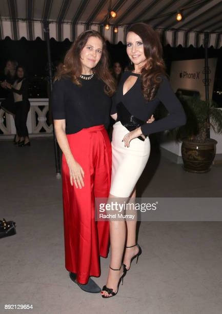 Monica Corcoran and Janie Bryant attend the Olgana Paris cocktail party at the Chateau Marmont on December 13 2017 in Los Angeles California