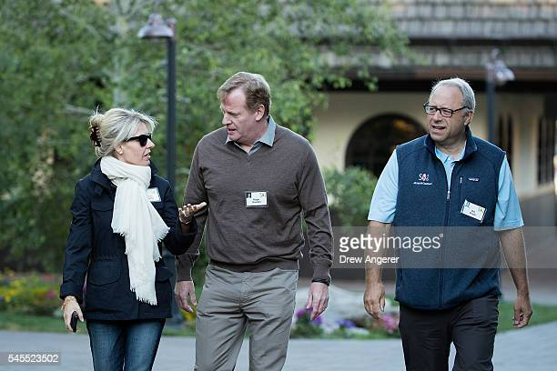 Monica Crowley Fox News analyst Roger Goodell commissioner of the National Football League and Bill Siegel chairman and chief executive officer of...