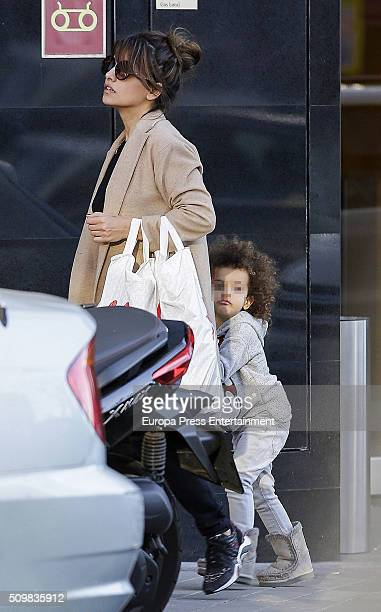 Part of this image has been pixellated to obscure the identity of the child Monica Cruz and her daughter Antonella Cruz are seen on February 4 2016...