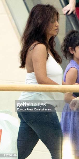 Monica Cruz and her daughter Antonella Cruz are seen on July 16 2013 in Madrid Spain